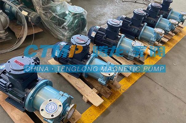 腾龙一批CQ不锈钢磁力泵发往浙江优创材料
