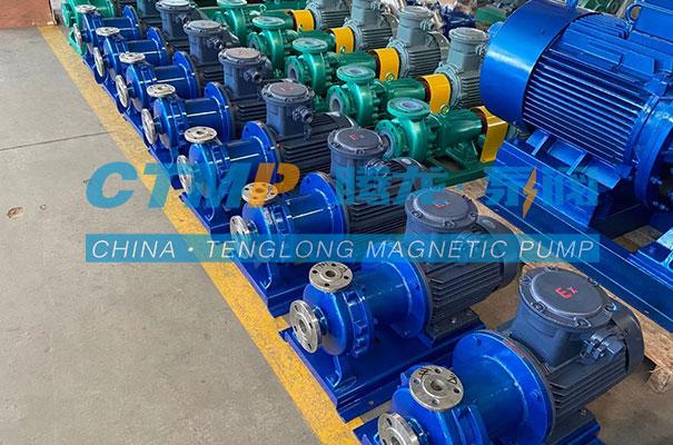 腾龙一批CQB-P不锈钢磁力泵发往浙江我武生物科技