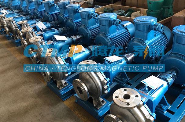 腾龙一批HJ不锈钢碱液离心泵发往山东新力环保