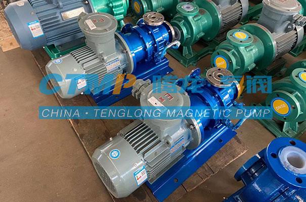腾龙CQB-GB高温不锈钢磁力泵发往江苏海企化工