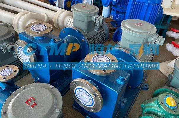 腾龙ZCQ不锈钢自吸磁力泵发往江西欣和化工