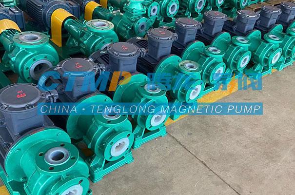 腾龙一批TMF氟塑料磁力泵发往九江惠城环保
