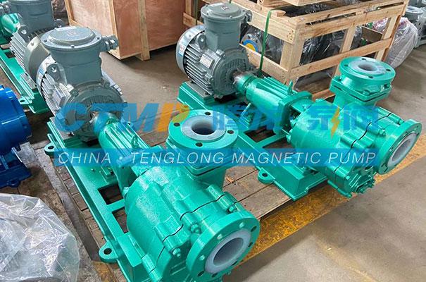 腾龙FZB-L氟塑料自吸泵发往陕西东鑫垣化工