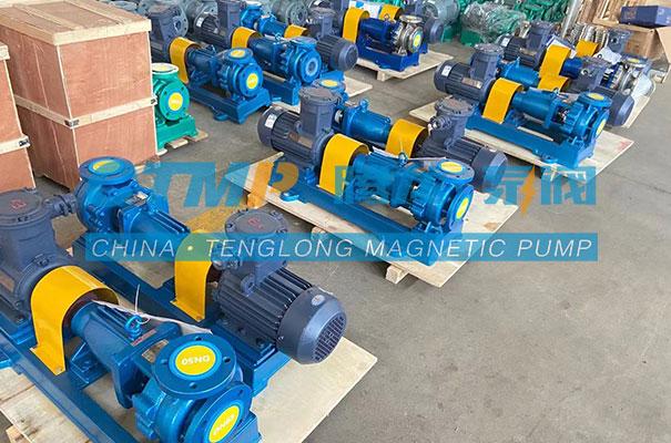腾龙一批IHF衬氟离心泵发往贺州市普生化工