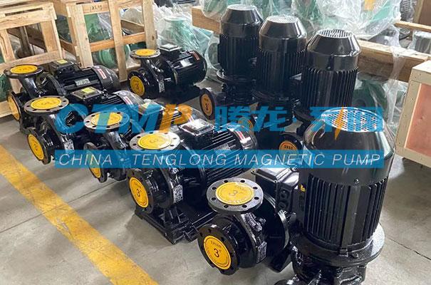 腾龙一批管道泵发往潍坊天德化工