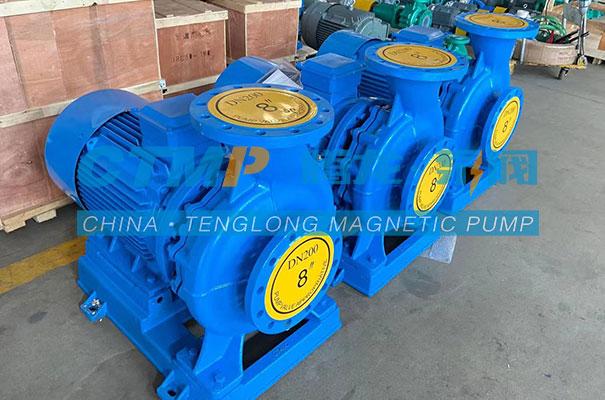 腾龙ISW卧式管道泵发往广东蓝清环保
