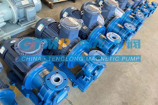 腾龙一批CQB-FT衬氟磁力泵发往天津远卓科技
