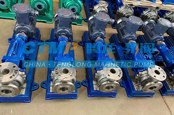 腾龙一批IH不锈钢离心泵发往南昌蓝星设备
