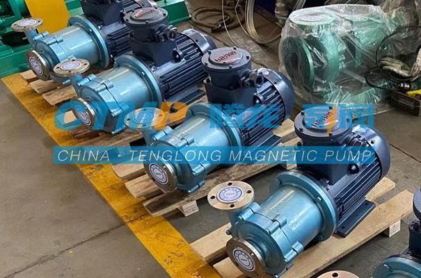 腾龙一批CQ不锈钢磁力泵发往辽宁三生科技