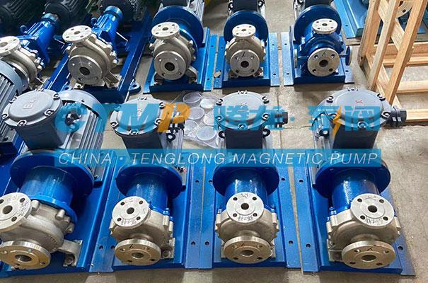 腾龙CQB-P不锈钢磁力泵发往山东贝特尔环保