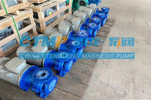 腾龙一批CQB-FT氟塑料磁力泵发往马鞍山华威冶金