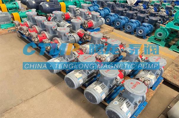 腾龙一批不锈钢磁力旋涡泵发往陕西领清环保科技