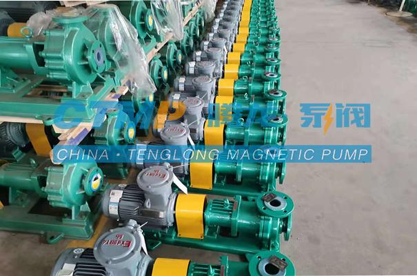 腾龙一批TMF-N氟塑料磁力泵(热销型)发往辽阳方泰能源科技