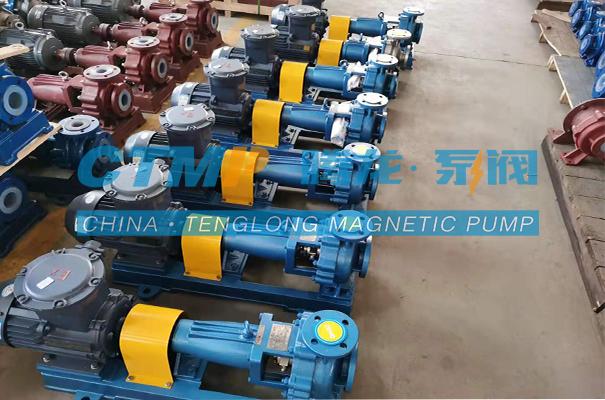 腾龙一批IHF-L氟塑料离心泵发往青岛润恒环保科技