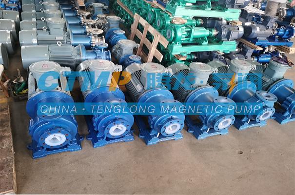 腾龙TMF-N氟塑料磁力泵发往江苏昇昌科技