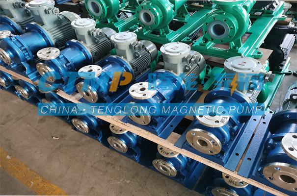 腾龙CQB-P不锈钢磁力泵发往宜兴国际环保城科技