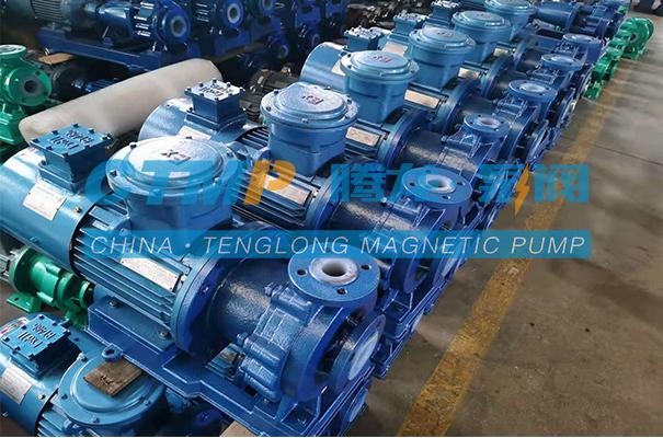 腾龙TMF-N氟塑料磁力泵发往山东中昆蓝源环保装备