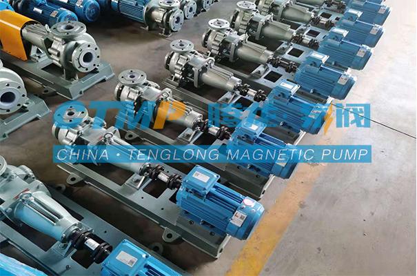 腾龙一批IHF-L氟塑料离心泵发往东莞振远环保科技