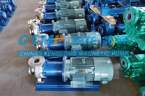 腾龙TMC-P不锈钢磁力泵发往大连益泰科技