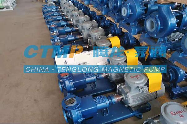 腾龙CQB-FA氟塑料磁力泵发往江苏揽山环境科技