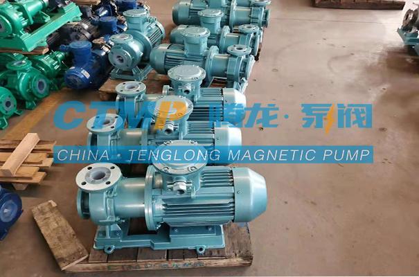 腾龙TMF-N氟塑料磁力泵发往岳阳聚成化工