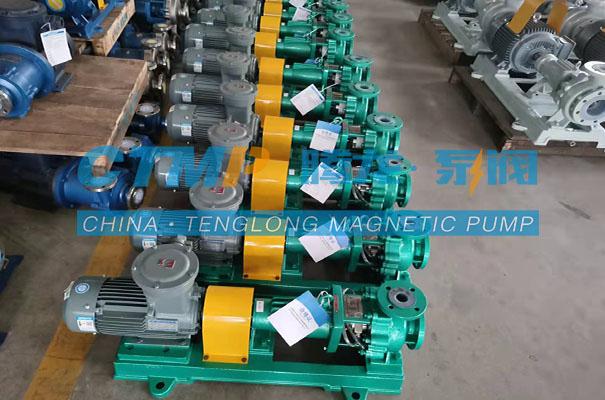 腾龙IHF-L氟塑料离心泵发往越南水立方