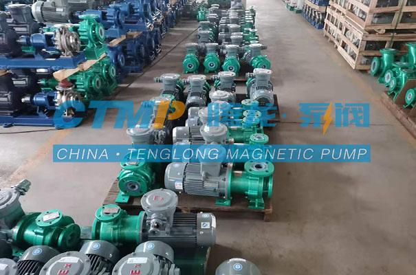 腾龙IMD-F氟塑料磁力泵发往江苏新润化工
