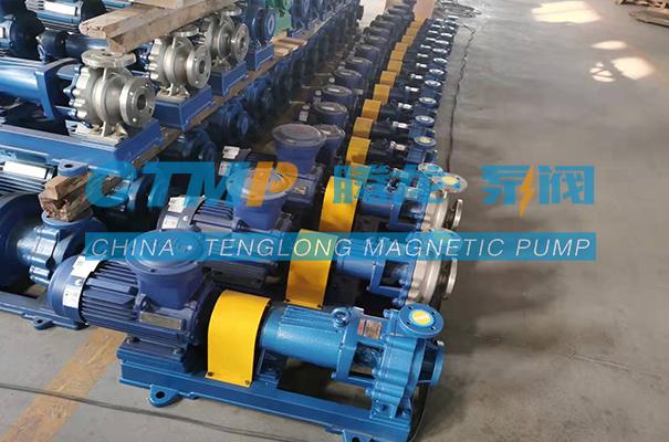 腾龙16台IHF氟塑料离心泵发往松岩冶金材料有限公司