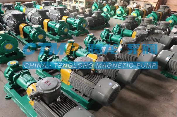 腾龙24台盐酸输送泵发往河北华膜环保科技