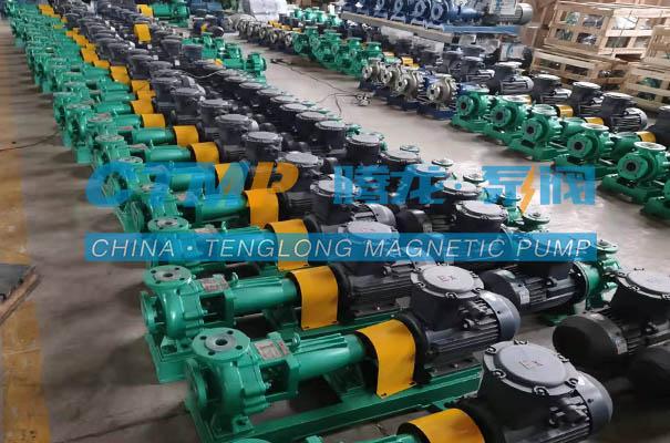 腾龙30台衬氟离心泵发往浙江嘉澳环保科技
