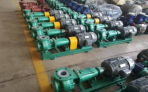 IHF65-40-250氟塑料离心泵正装箱发往沈阳化工